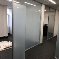 Officespace Window Frosting on Glass Walls