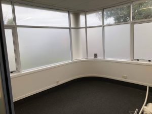 Boardroom commercial window frosting