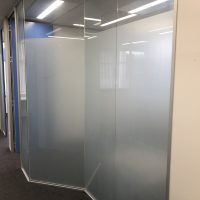 Office partition glass - window frosting